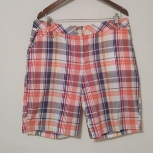 Talbots Plaid Bermuda 100% Cotton Shorts